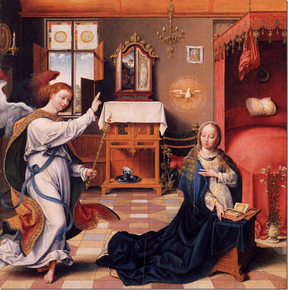 Annunciation Mary-1525-Joost Van Cleve