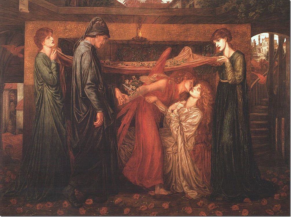 Dante's Dream at the Time of the_Death of Beatrice by Dante_Gabriel Rossetti