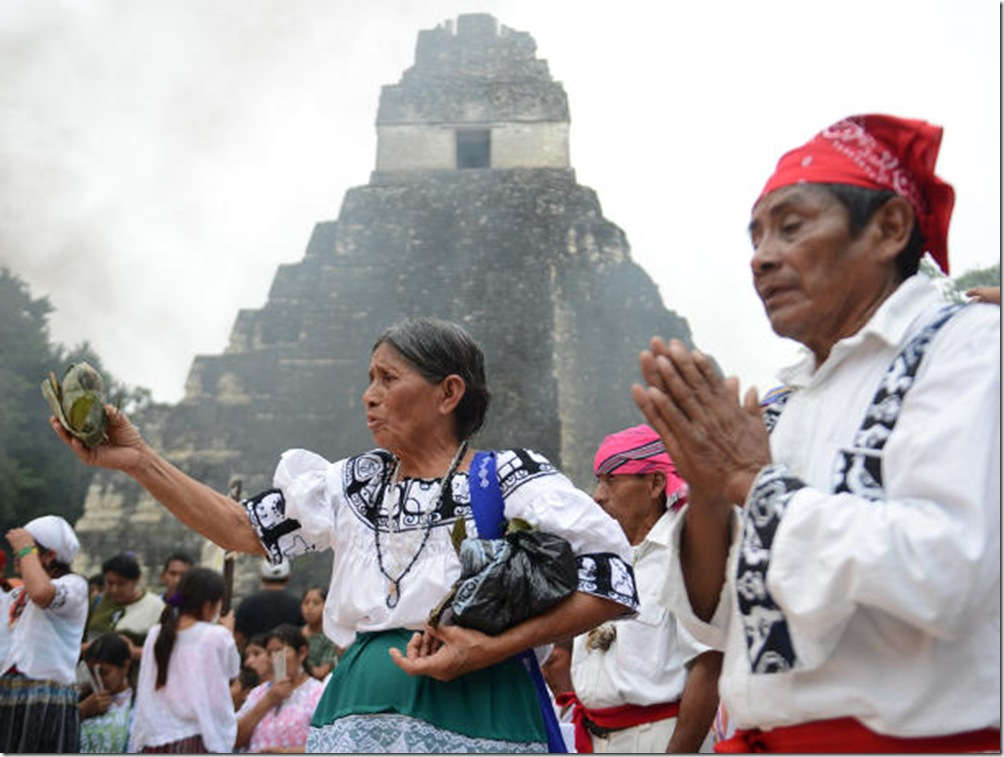 Maya elders celebrate end of Cosmic Cycle 2012